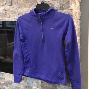 Nike Fit purple running fitness hood jacket top